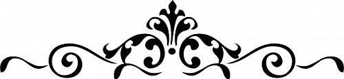 Scroll Embellishments Vinyl Decal Wall Stickers Home Dcor - Black Matte, 22 wide by 5 tall by Enchantingly Elegant -