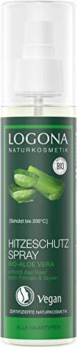 LOGONA Naturkosmetik Hitzeschutzspray Bio-Aloe, Zum Stylen aller Haartypen, Effektive Schutz-Formel, Hitzeschutz-Komplex, Vegan, 150ml