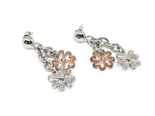Collezione gioielli: jlo, sweet years e guess (orecchini pendenti fiori rosè e argento)
