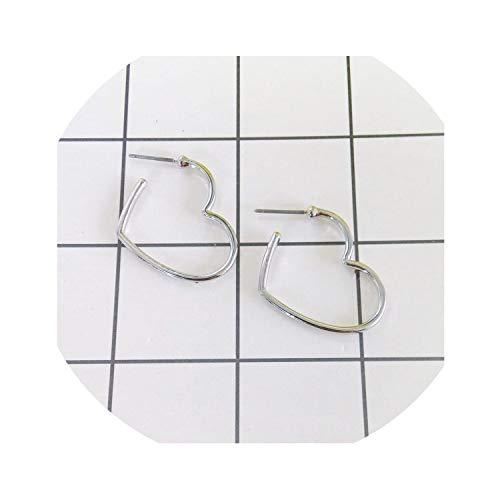 Frau Mode-Bolzen-Ohrringe Herz-geformte Ohrringe junges Mädchen Herz weich Heartly Bolzen-Ohrringe, Platin überzogen