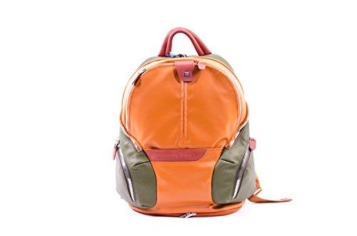 Piquadro Coleos 13'' Zaino per laptop arancio