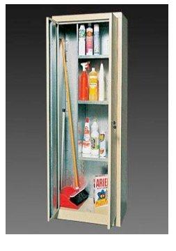 Kabinett beschichtet Besen verzinkt 2 Türen Fensterläden Cm. 100X50X200H (Tür Fensterläden)