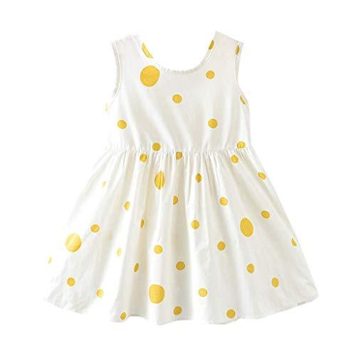 KIMODO Baby Mädchen Kleid Kleinkind Bowknot Punktdruck Princess Partykleid Urlaub Sommer Lässig Strandkleid