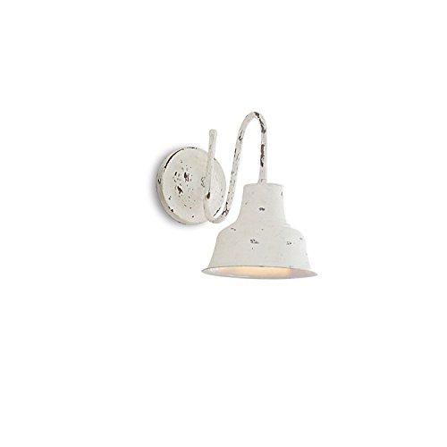 LOBERON Wandlampe Sidney, Eisen, H/B/T ca. 30/20/28 cm, antikweiß, Energieeffizienzklassen A++ bis E