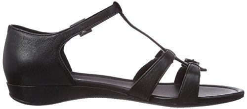 Ecco Bouillom II Damen T-Spangen Sandalen Schwarz (Black Leather01001)