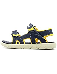Timberland Perkins Row 2-Strap Navy/Yellow Synthetic Infant Strap Sandals