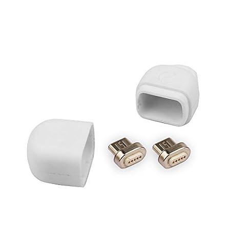 Volador 2 Packs Magnetic Micro USB Adapter Kopf für Android Smartphones, Tablets und andere Geräte, kompatibel mit VOLADOR USB Magnetische Lade- /