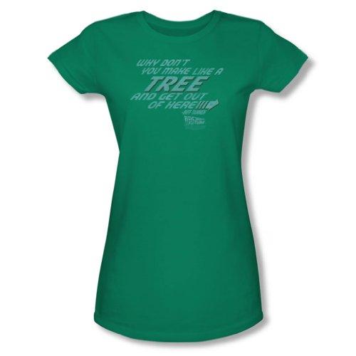 Back To The Future - Frauen wie ein Baum-T-Shirt In Kelly Grün Make Kelly Green