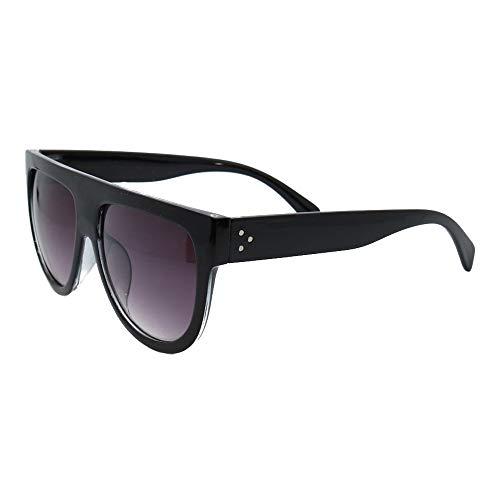 Damen-Sonnenbrille I Modell Milano I Oversize-Brille Schwarz I UV-Schutz I Übergroße Sonnenbrille (Schwarz)