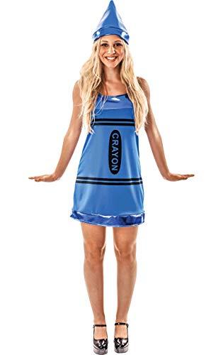 Meine Damen Sexy Blauen Zeichenstift Färbung Kunst Verkleidung Kostüm Large
