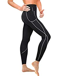 4b121b2b9518e Gotoly Women Sauna Weight Loss Slimming Neoprene Pants with Side Pocket Hot  Thermo Sweat Leggings