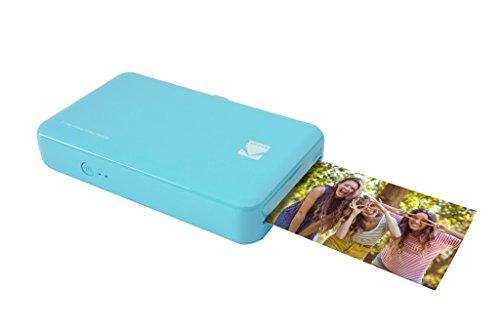 Kodak Mini 2 HD Wireless Mobile Instant Fotodrucker w/4 PASS patentierte Drucktechnologie (blau) - kompatibel mit iOS & Android-Geräte - echte Tinte in einem Instant