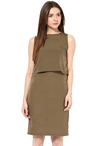 Miss Chase Women's Crepe Layered Dress