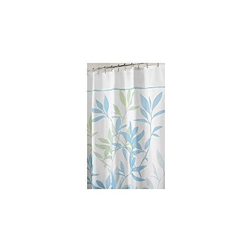 InterDesign Leaves Fabric Shower Curtain Black/Gray/White at ...
