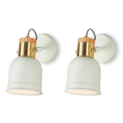 Applique Murale Lampe de Chevet Bleu Blanc Chambre Liseuse Salon Hall d'entrée Escaliers Mur Style Nordique ( Couleur : Blanc )