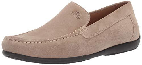 Geox scarpe da uomo mocassini u ascanio a in camoscio beige u920wa-00022-c5004