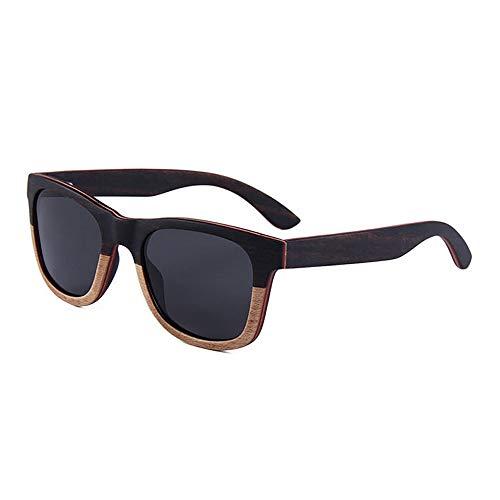 Occhiali da sole polarizzati unisex occhiali da sole polarizzati di legno di personalità della lente di colore della lente d'annata della vecchia di colore fatti a mano per le donne degli uomini uv400