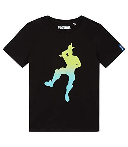 Fortnite Jungen T-Shirt (152, Schwarz)