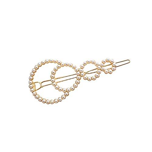 Hot Snap (SGJIN Home Mode Mädchen Perle Haarspange Haarspange Snap Haarnadel Frauen Haarschmuck Geschenk Nette INS HOT)