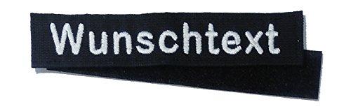 Namensschild MIT KLETT - Bestickt mit eigenem Namen/Text (135mm) (Feuerwehr Kleidung)