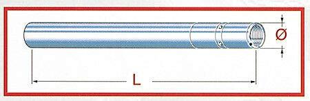 Générique TAROZZI 704-697 Fork tube upside down CB 600 Hornet 07-08 D=41 mm L=579 mm