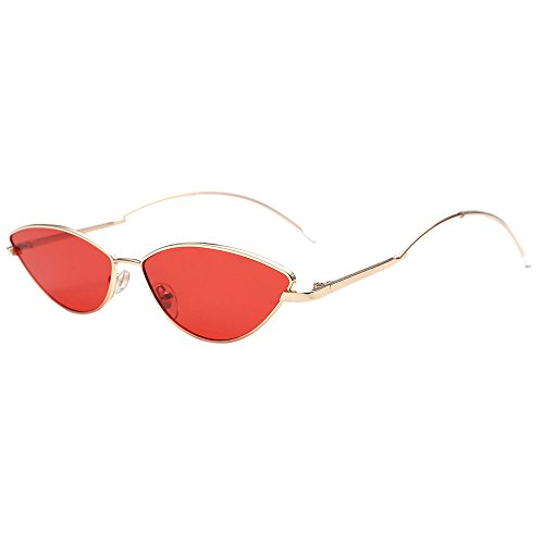 Whycat Cateye Sonnenbrille Vintage Fashion Polarized Sunglasses For Women,Beach Party Cateye Mirrored Lens Goggle Eyewear(C)