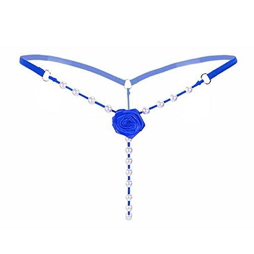 KOINECO Damen String Blau