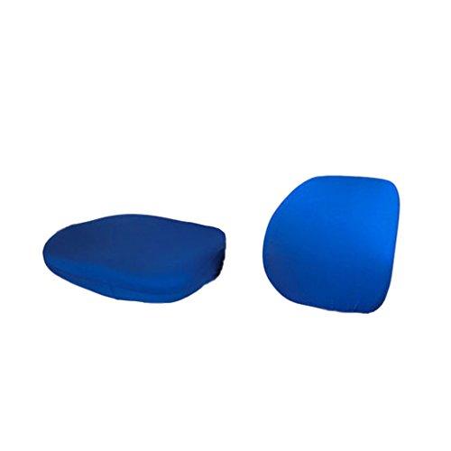 Baoblaze 2pcs sedia copertura copertina cover da sedile girevole protezione fodere coprisedia di elastico tessuto per hotel ufficio - blu