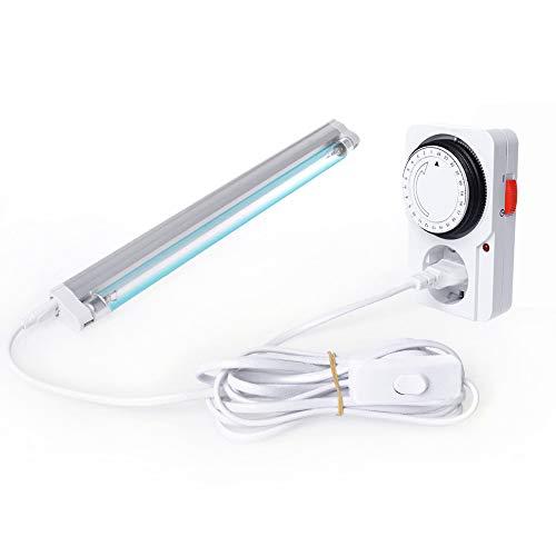Schatzboot UV Ozon Lampe UV-C Lampe 8W für Haus Schränke Schuhschränke Luftreiniger Reiniger Desinfektion Bakterien, Mikroben und Viren (A#) -