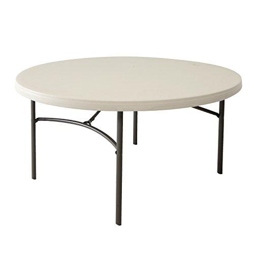 Lifetime Table pliante 80121 152 cm rond Commercial – Amande
