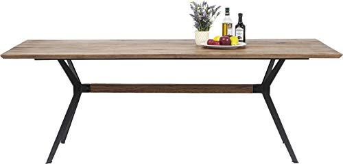 Kare Tisch Downtown 220x100cm, 80759, großer, massiver Echtholz Esstisch, Esszimmer Tisch aus Eiche Massivholz, (H/B/T) 77 x 220 x 100cm