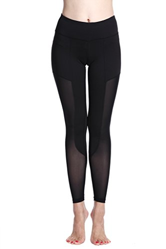 Lotus Instyle femmes Jambi¨¨res de yoga longues Collants Sports Fitness Pant Black 1