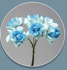 Confezione 72 pezzi-fiori, Bomboniera fiore rosellina, x segnaposto, composizione confetti. CK2113 (CELESTE)
