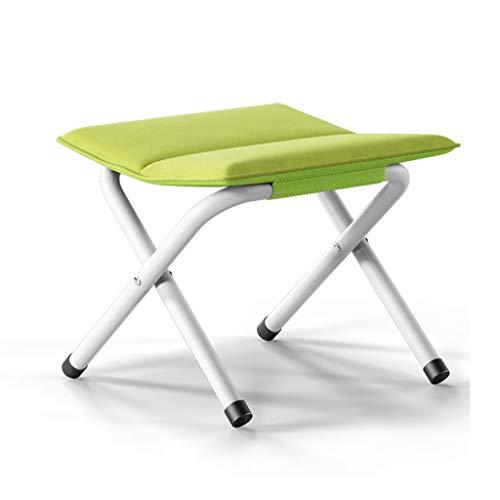 WEIFAN-Furniture Tragbarer Klapphocker verdickter Stuhl Fischen Mazar Erwachsenen im Freien kleine Bank ändern Schuh Hocker (grün)