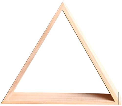 Skyiy in legno galleggiante triangolare decorativo mensola moderno e unico/rustic. piccoli in legno mensola per casa e cucina - hollow