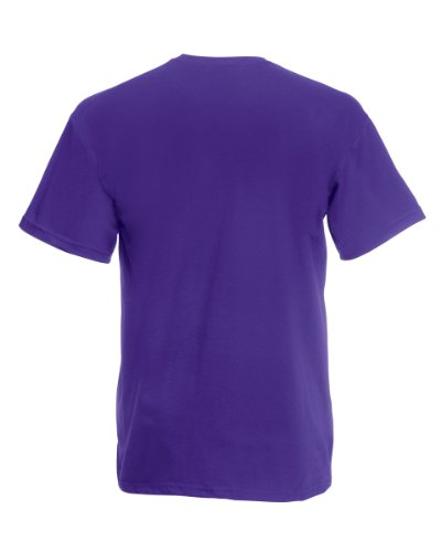 Fruit Of The Loom Mens Valueweight Crew Neck, Short Sleeve T-Shirt, not V Neck.