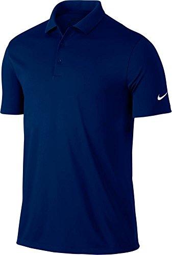 Nike Victory Solid-Polo da uomo, UOMO, Azul Oscuro / Gris / Blanco, S