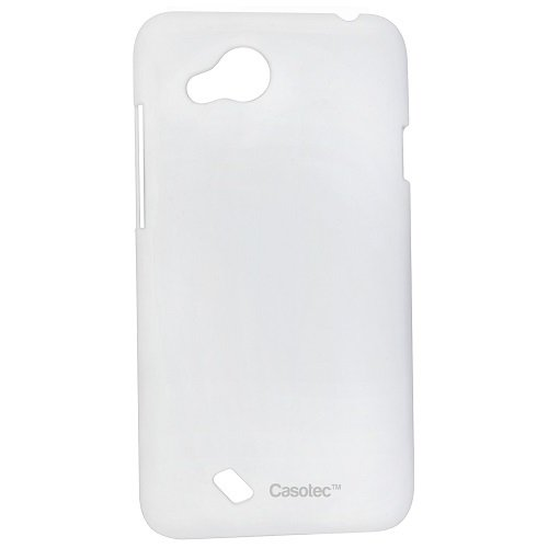 Casotec Ultra Slim Hard Shell Back Case Cover w/ Screen Protector for HTC Desire VC - White
