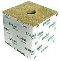 Cubos de lana de roca 10x 10x 6.5–agujero de 27/35mm–cartón de 216Cubes–Grodan