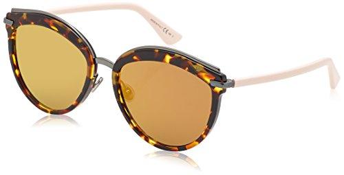 Dior Damen DIOROFFSET2 83 01K Sonnenbrille, Pink (Havana Ltpnk/Brw Gd Grey Speckled Ar Marl), 57