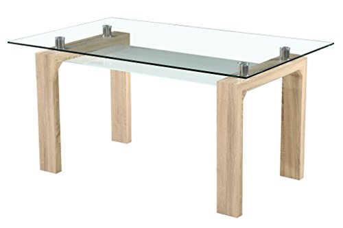 Mobelcenter - Mesa comedor rectangular cristal-cambrian ¡¡ PORTES GR