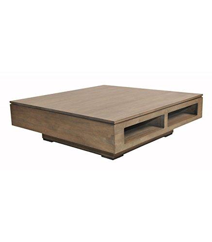 TABLE BASSE CARREE EN HEVEA