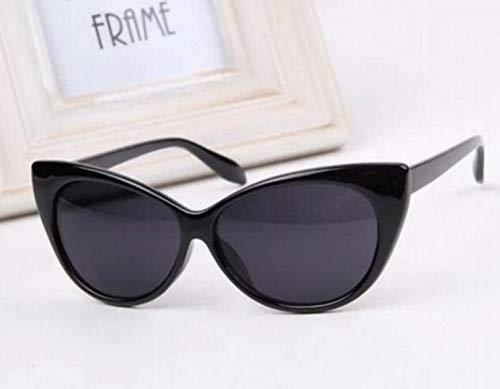 WeieW Home Praktische Artikel Vintage Cat Eye Sonnenbrille, Klassische Steampunk Sonnenbrille Frauen Sonnenbrille, für Party Beach Seaside, schwarz