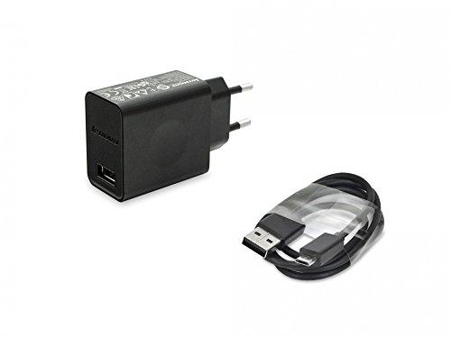 Micro USB Netzteil 10 Watt EU Original 45N0542 + 04W2153 für Lenovo IdeaCentre Stick 300-01IBY (90ER), Stick 300-01IBY (90F2) / IdeaPad B6000-F, B8000-F / IdeaTab A3000, A-Serie, Lynx, S6000, S-Serie / ThinkPad 8 Tablet, Tablet 2, Tablet / Yoga Tab 3 10