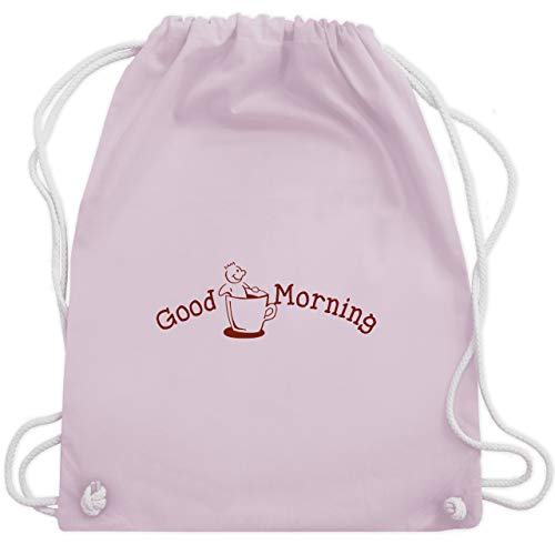 Sprüche - Good Morning - Unisize - Pastell Rosa - WM110 - Turnbeutel & Gym Bag