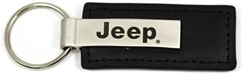 Jeep Name Logo Black Leather Keychain Metal AUTHENTIC Key Ring Lanyard by DanteGTS