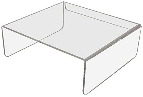 Klar Glas-schreibtisch (E10 Ergonomischer Monitorständer 27 x 25 x 10 cm BxTxH Acrylglas klar)