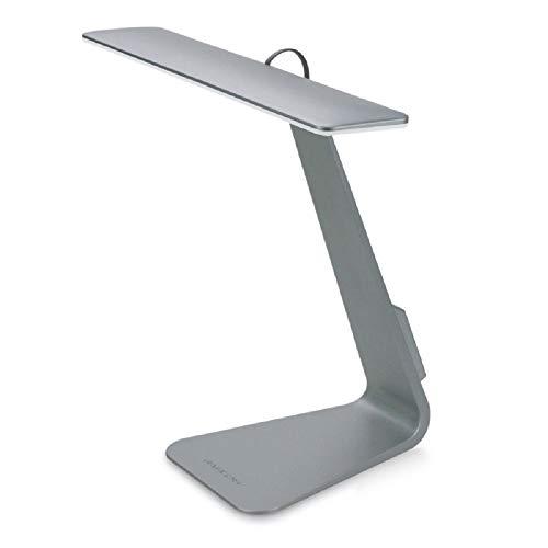 Illuminii iLamp Nuevo 2016 Diseño! LED escritorio/lectura/lámpara de mesa con 3 iluminación niveles (gray)