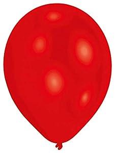 amscan 9904912 - Globos de látex (25 Unidades), Color Rojo
