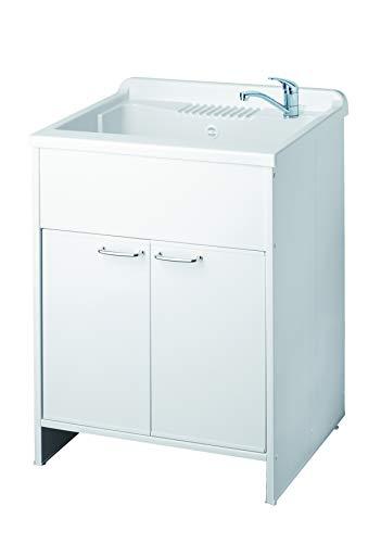 Mobile lavatoio, misura cm.60x50x88, 2 ante, vasca e asse...